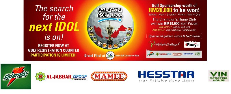 MALAYSIA GOLF IDOL 2010 OFFICIAL SPONSORS AND MEDIA