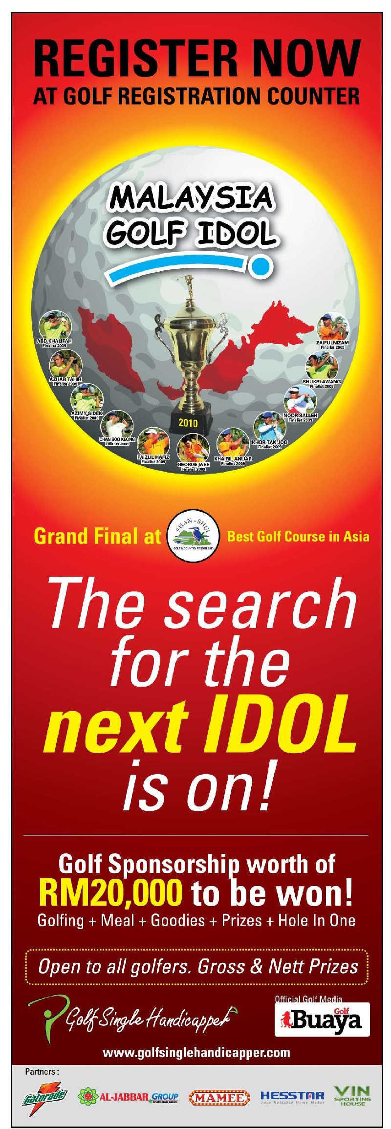 THE SEARCH FOR THE NEXT GOLF IDOL IS ON !!