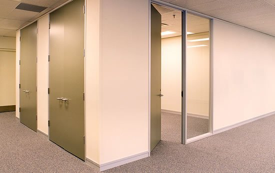 Gypsum Partitions With Glass : Interior design renovation fire rated gypsum partition