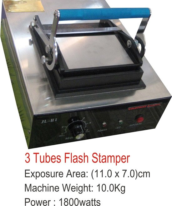 3 Tubes Flash Stamper