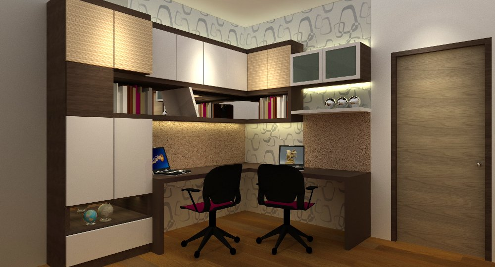 study room. study area . design. mutiara rini. rini hill.study table
