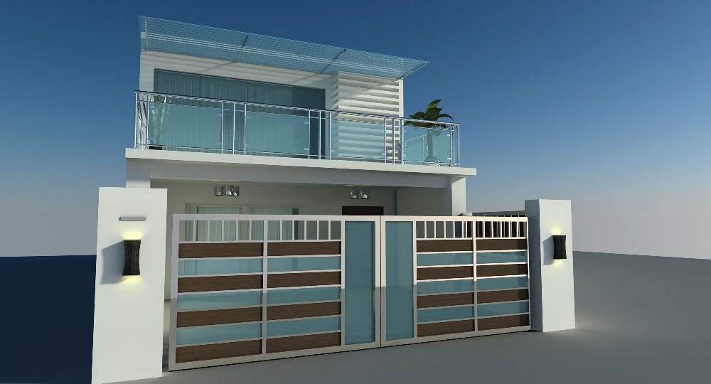 Balcony outdoor exterior design house jb interior for Home design johor bahru