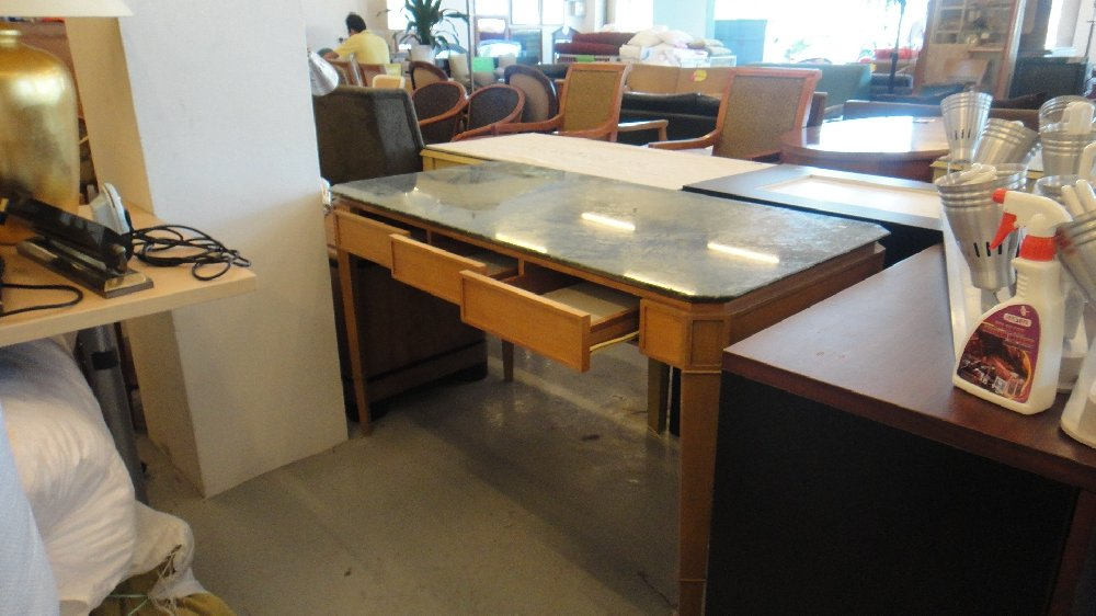 Marble Top Writing Table