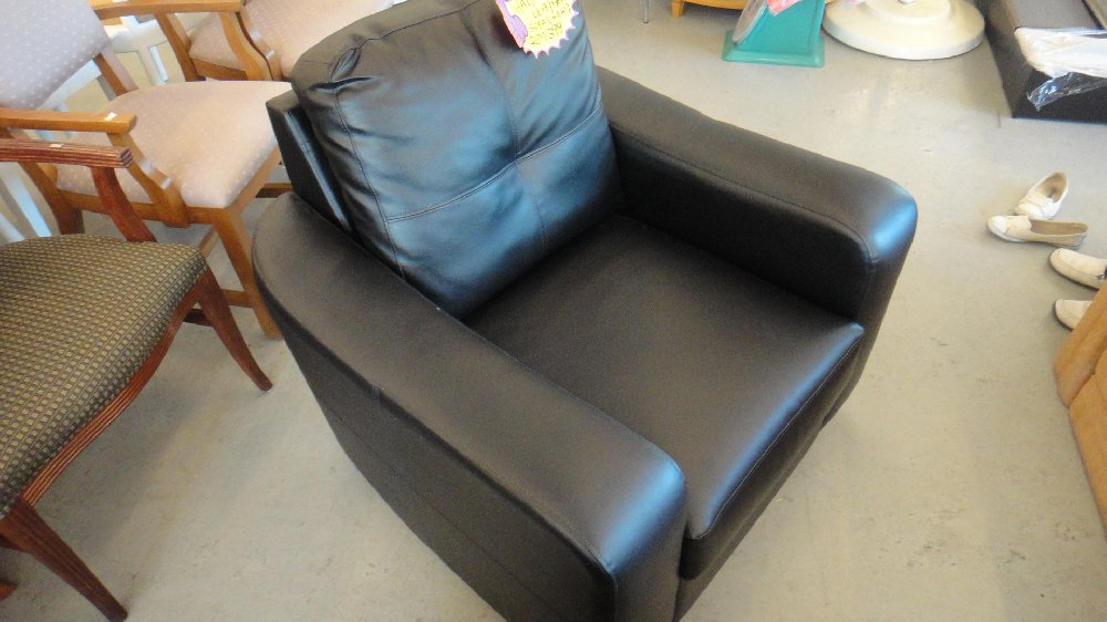 Half Leather Single Sofa