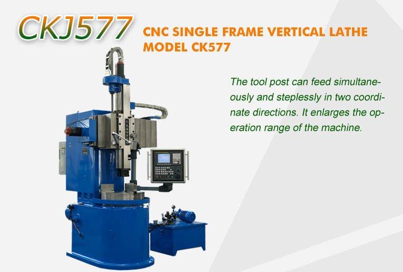 Cnc Lathe Single Frame Vertical - CKJ 577 ☆ Lathe Lathe - Vertical ...