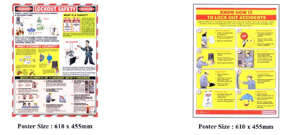 Loto Poster ★ Safety Equipment Safety Lockout Johor Bahru