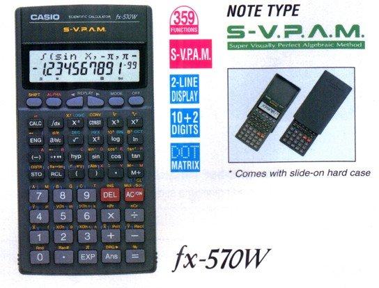 Casio Fx 570w ★ Stationery Casio Electronic Calculators