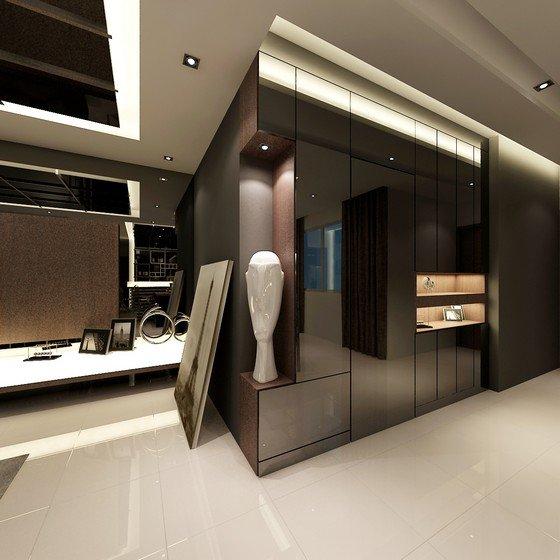 Condo condo living room johor bahru jb malaysia design for Room interior design sdn bhd