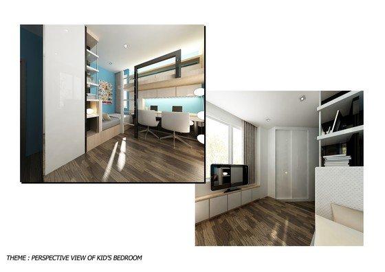 Straits view condo study room straits view condo johor for Room interior design sdn bhd