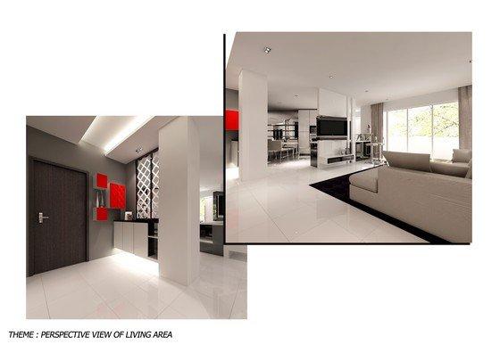 Straits view condo living room straits view condo johor for Living room design johor bahru