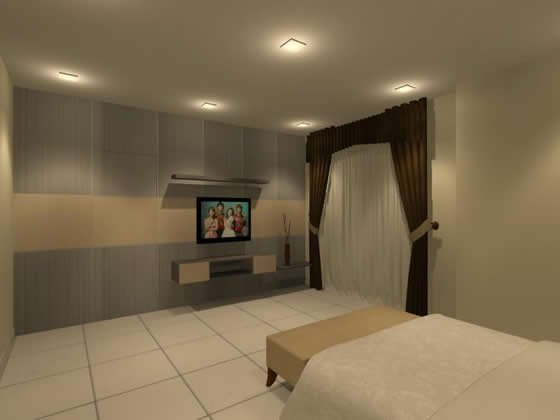Master Bedroom Partition With Tv Console Interior Design Residential Bedroom Johor Bahru Jb