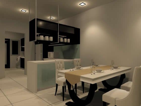 Dry Kitchen And Dining Area ★ Interior Design