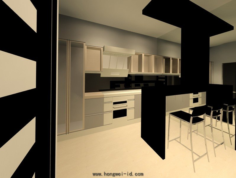 Dry kitchen and bar counter interior design for Interior bar designs residential