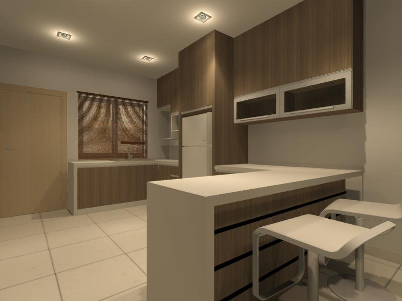 Dry Kitchen And Bar Counter Interior Design