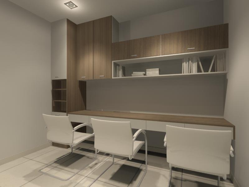 Study room interior design residential cabinet johor Study room wall cabinets