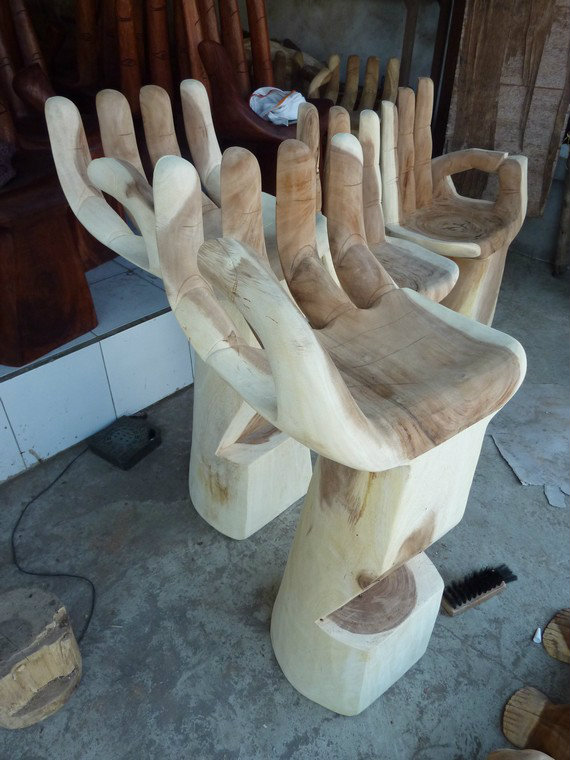 Bar Stool.Wood Carved.Home Deco.Hiasan.Johor.Fengshui.Decora