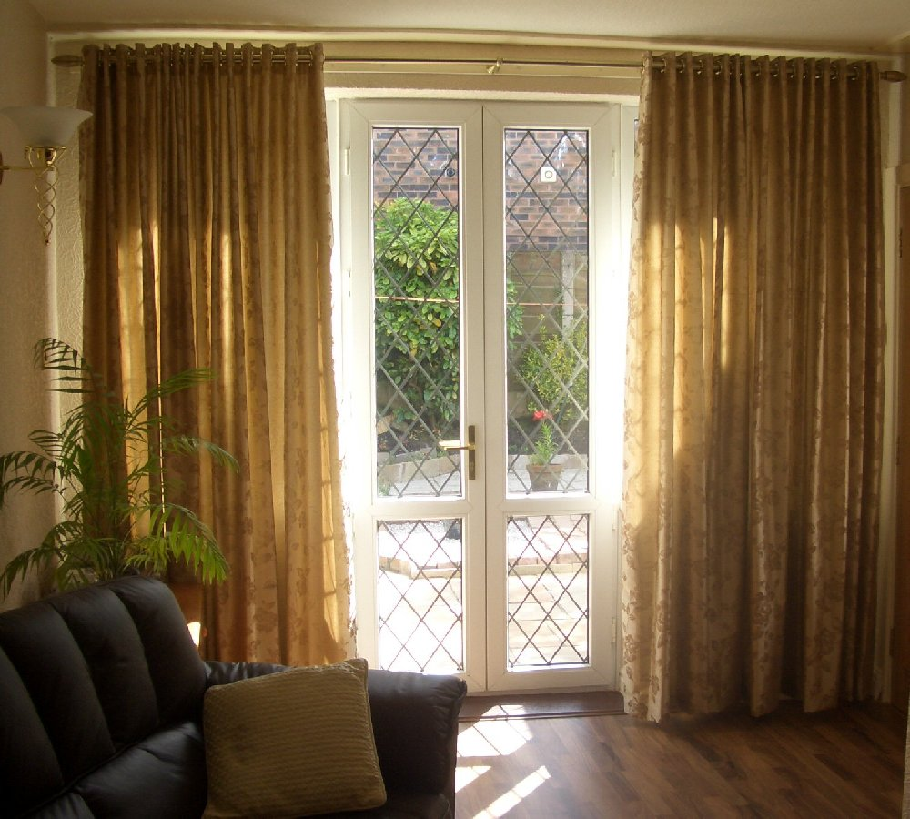 Silky Fabric curtain with Eye let heading