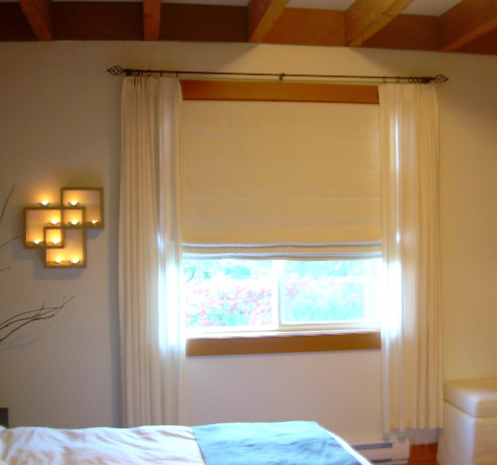 Day Curtain with Roman Blind