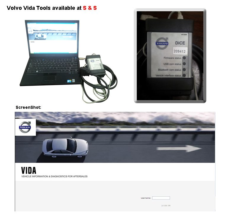 Volvo Vida Tools available at S & S