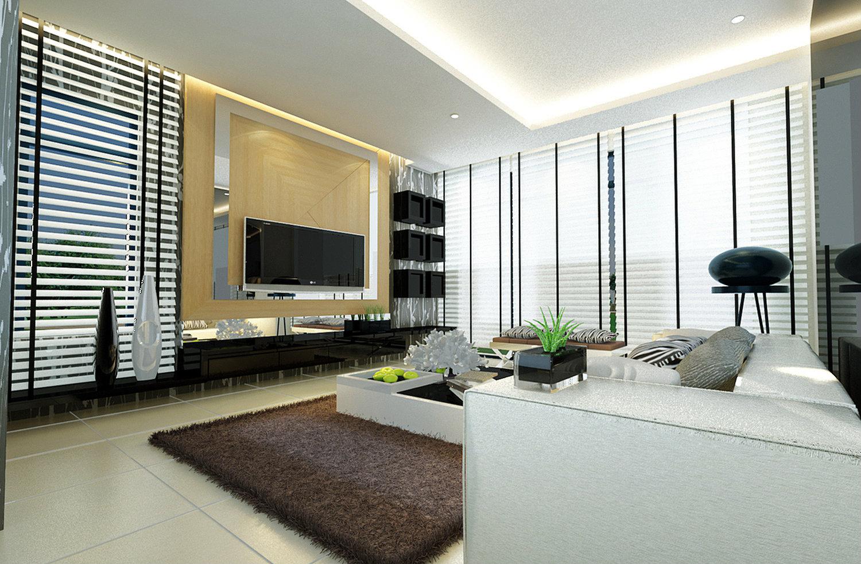 3d living room design 3d johor bahru jb malaysia design for Living room design johor bahru