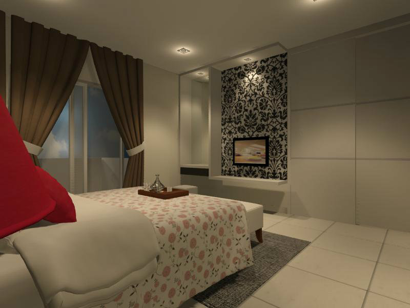 MASTER BEDROOM PARTITION WITH TV CONSOLE ★ Interior Design ...