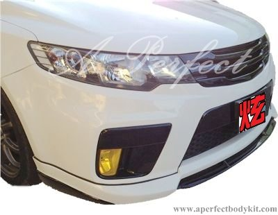 Kia Forte Front Lip (MR Style for Kia Forte Koup bumper) & Front Grill (MR Style)