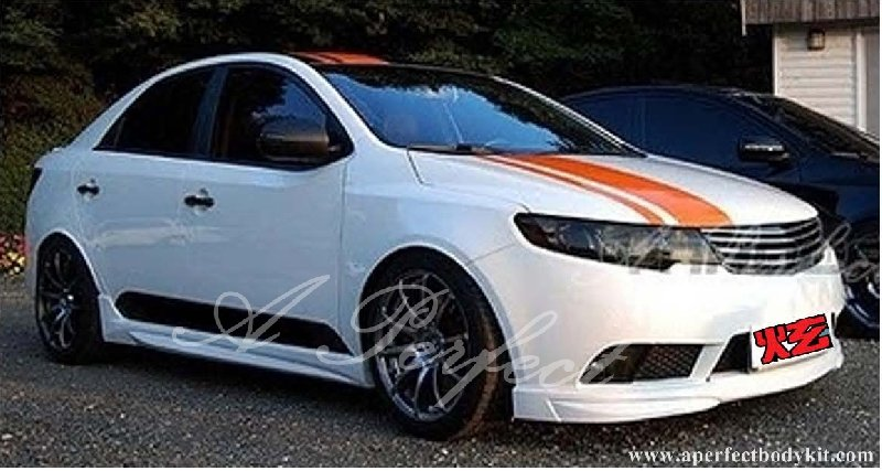 Kia Forte Front Lip (NF Style)(For Ori Forte Bumper) & Side Skirt (NF Style)