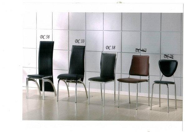 Chrome dining chairs set johor bahru jb malaysia