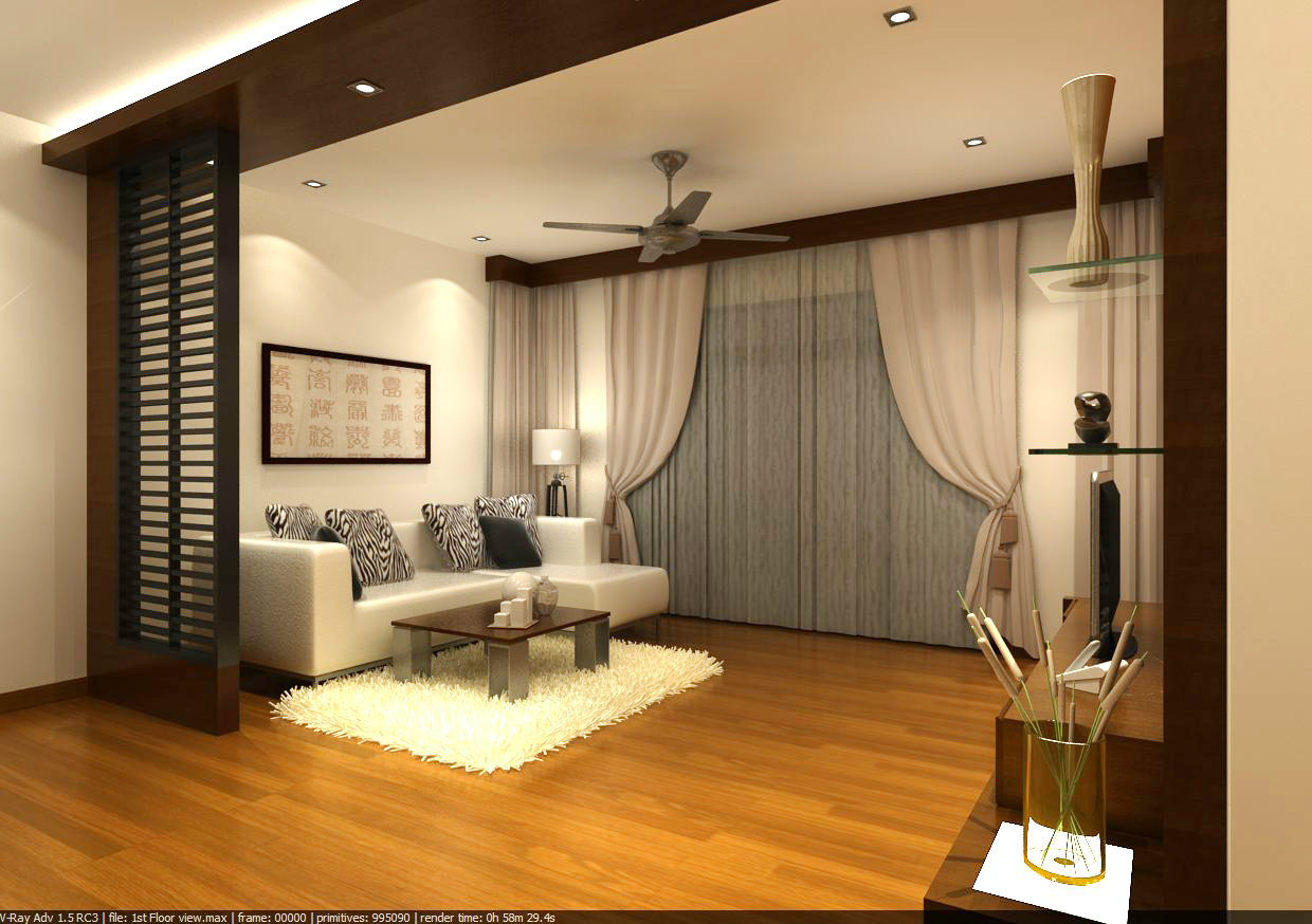 Home Interior Design Ideas Hall: Family Hall View 1 Interior Design Family Hall Johor Bahru