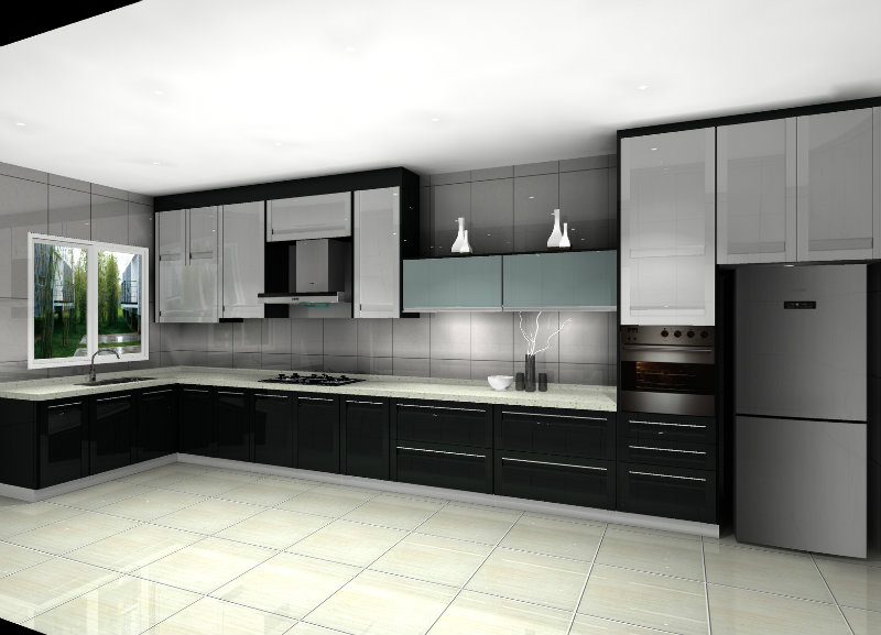 Malaysian kitchen design meridian design kitchen cabinet for Kitchen decoration malaysia