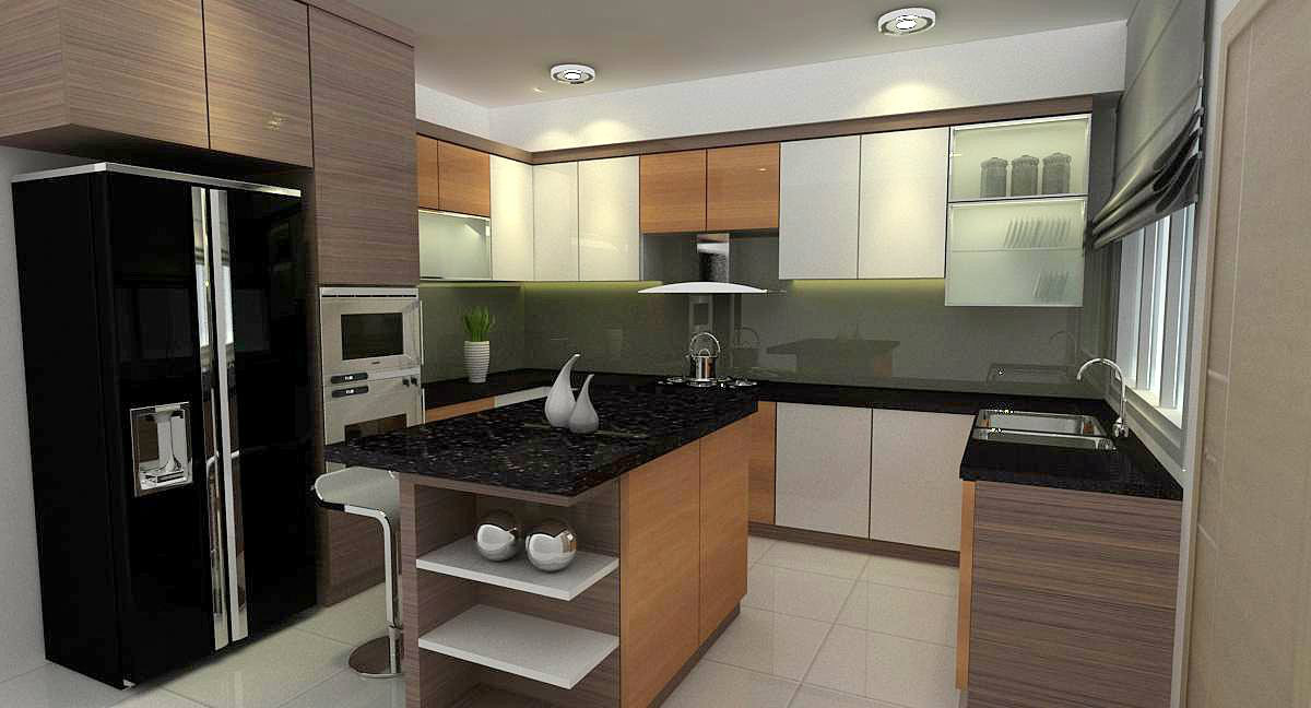 Bayu Putri . permas jaya . kitchen cabinet . interior design work