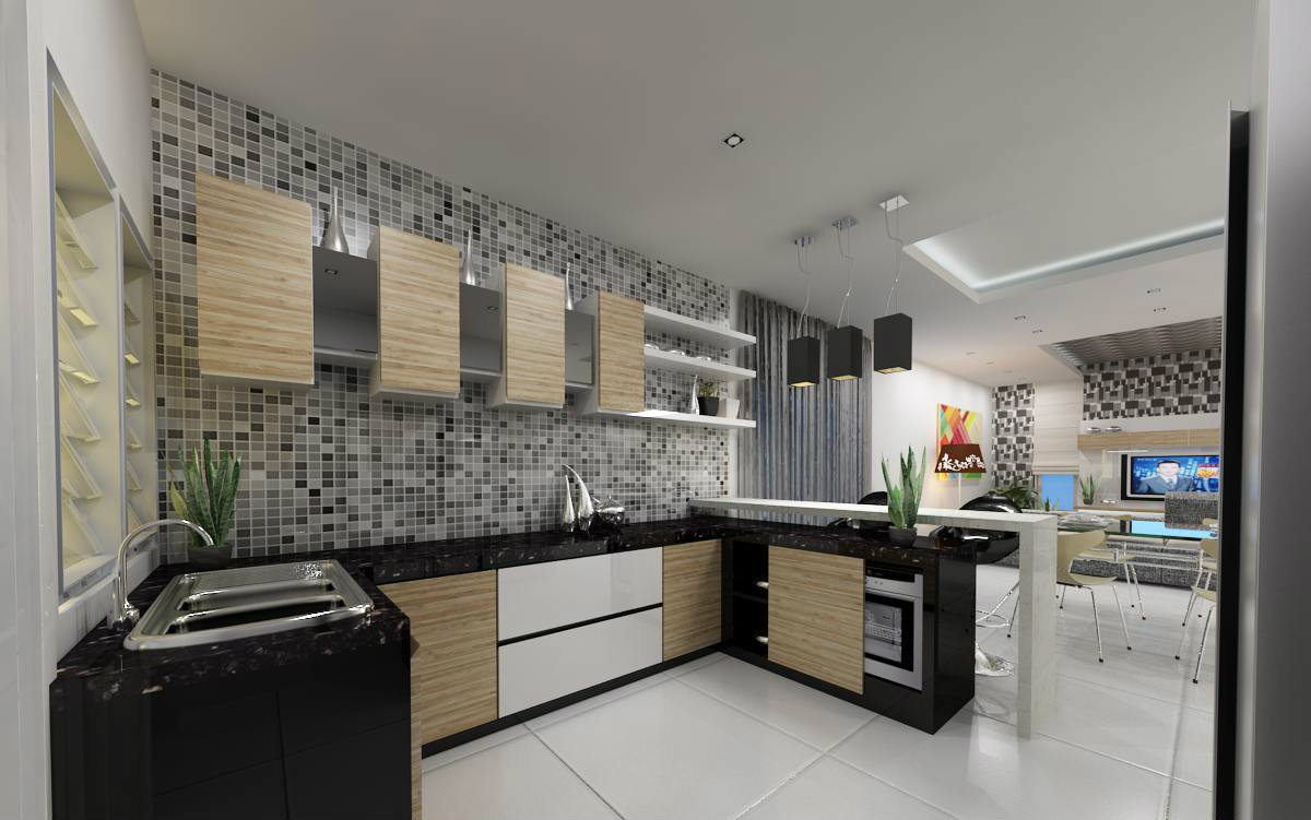 sri austin hill . dry kitchen design . cabinet design work