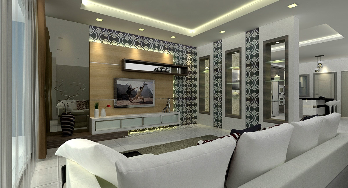 impian height . sri impian . impian emas . living hall design