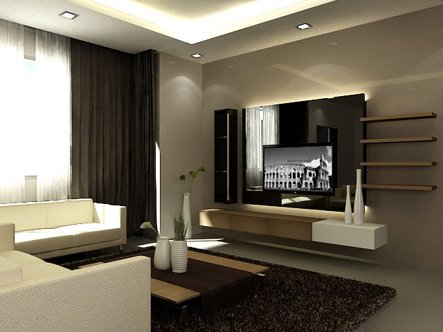 Feature Wall Ideas For Family Room : Tv feature wall design living room