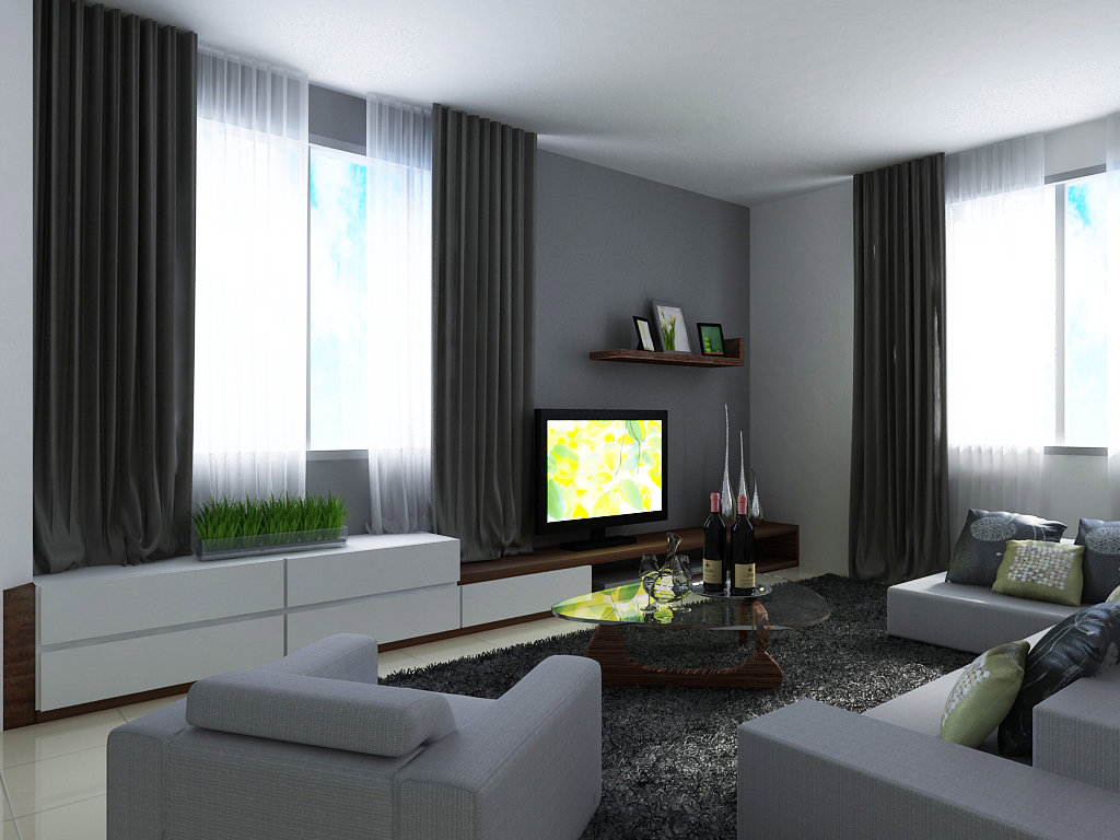 Tv feature wall design tv feature wall design living room design jb johor bahru design - Living room tv wall design ...