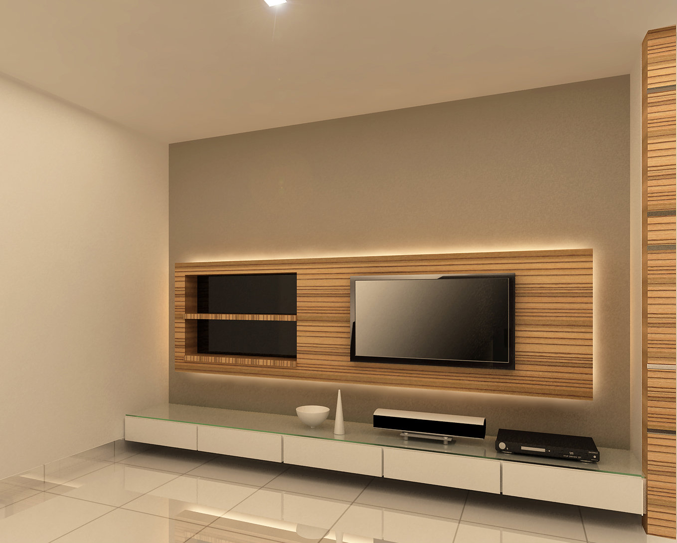 tv console design impian emas project other jb johor bahru design renovation pline. Black Bedroom Furniture Sets. Home Design Ideas