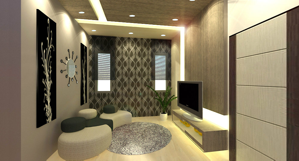 family hall . design . pulai flora . TV cabinet design .