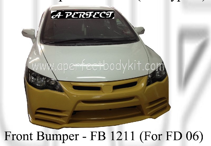 Honda Civic 06 Front Bumper (M&M) For 06 FD