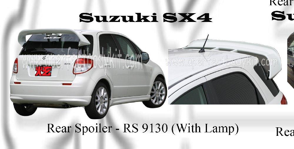 Suzuki Sx4 Rear Spoiler With Lamp Suzuki Sx4 Johor Bahru