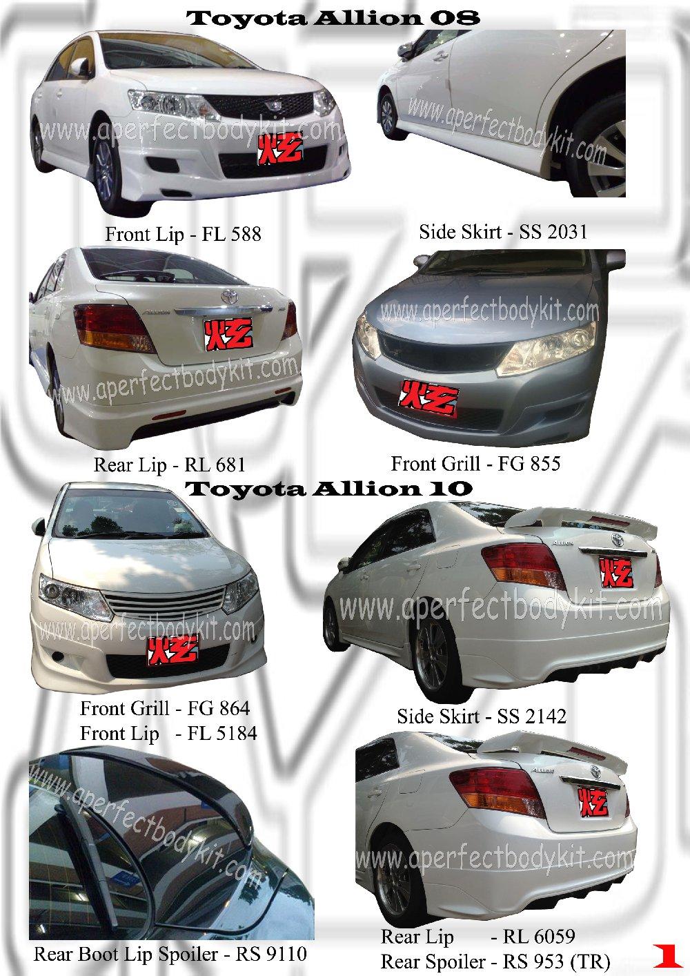 Toyota Allion 08 Amp 10 Toyota Allion Johor Bahru Jb