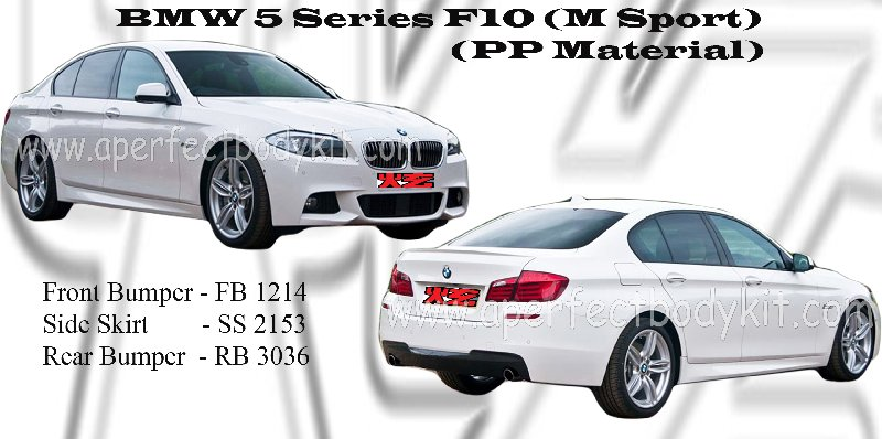 BMW 5 Series F10 (M Sport) (PP Material)