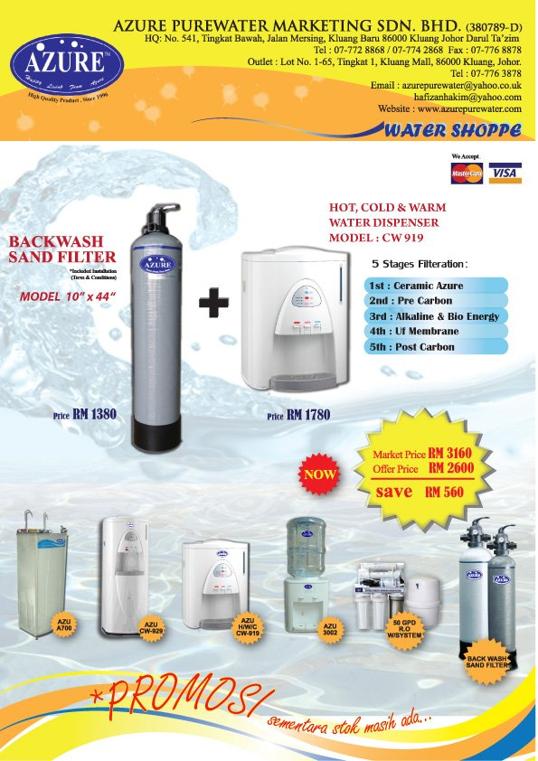 "KATALOG PROMOSI CW 919 & 10""X44"" SAND BACK WASH FILTER"