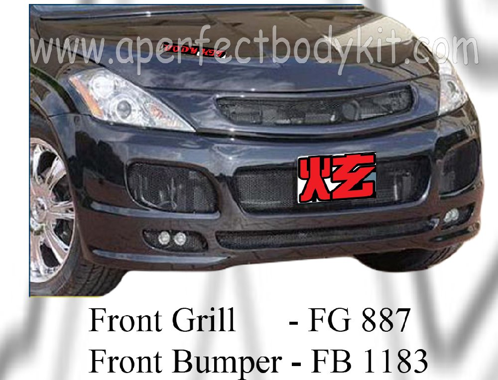 Nissan Murano INVD Front Bumper & Front Grill
