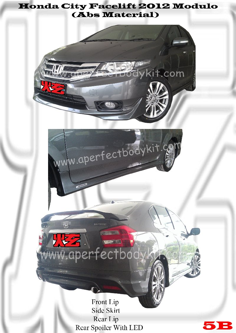 Honda City Facelift 2012 Modulo (Abs Material)