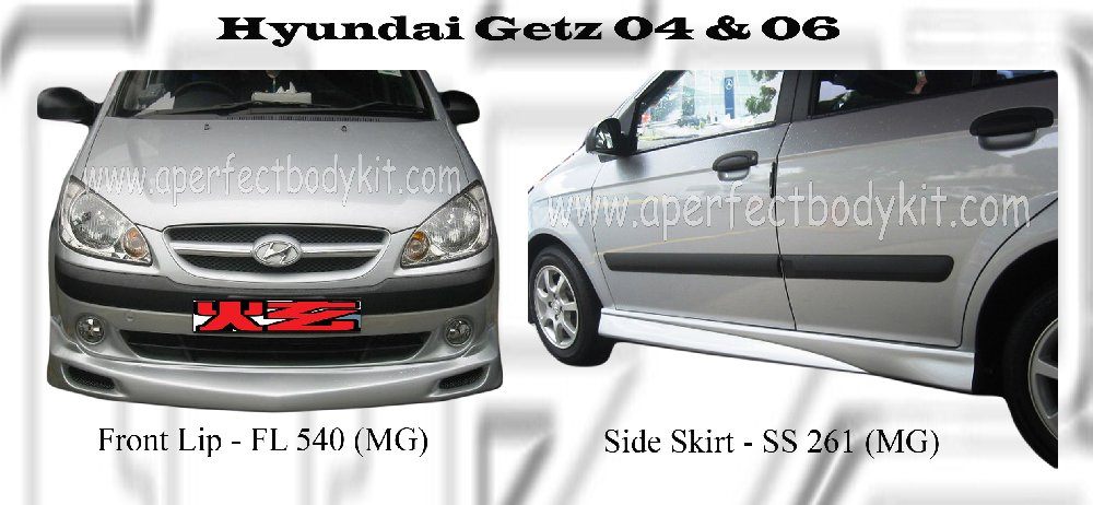 Hyundai Getz MG Front Lip & Side Skirt