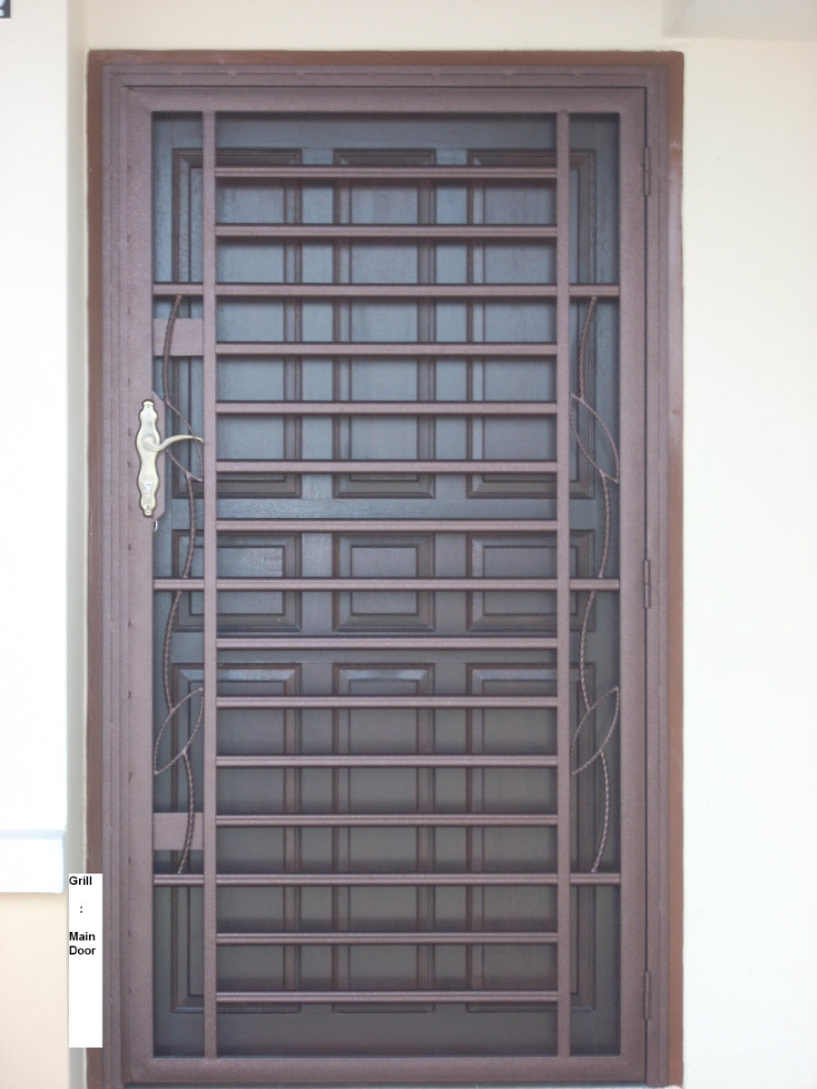 Pin main door grill design genuardis portal on pinterest for Main door grill design