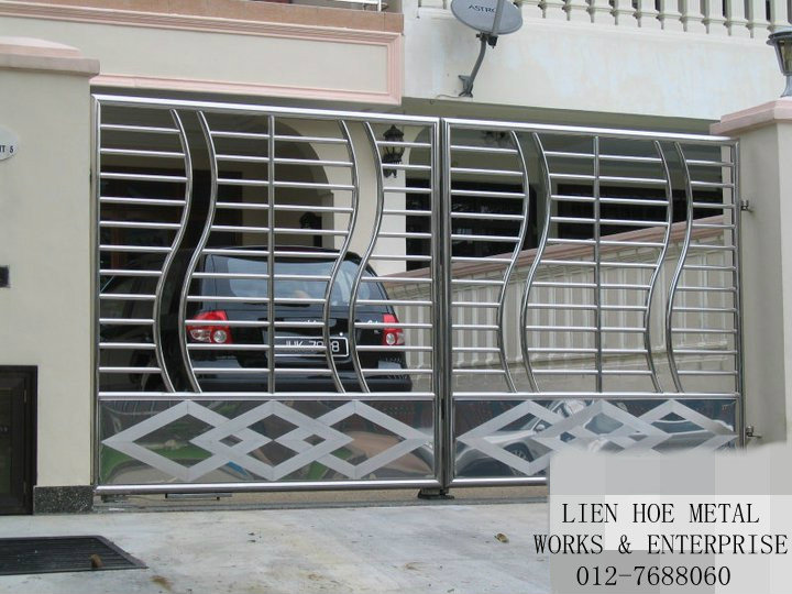 ... Free Download Stainless Steel Main Gate For Modern House Design Home