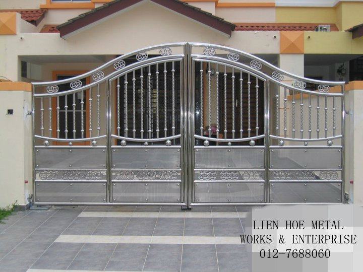 Pics for stainless steel gate designs Metal gate designs images