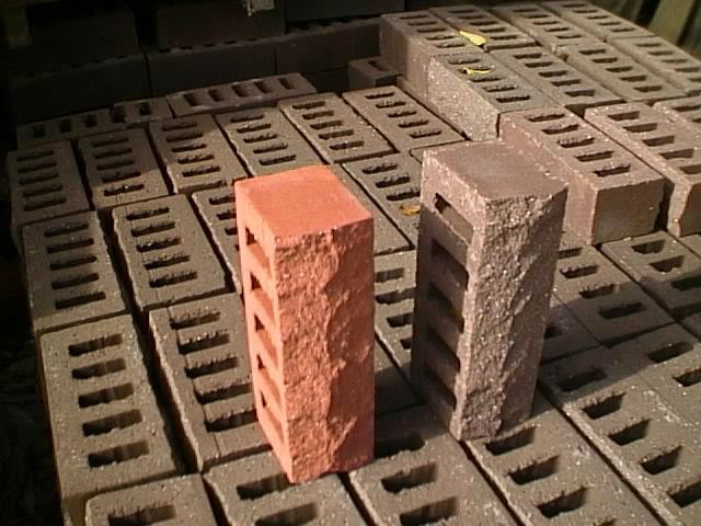 Rock Surface Red and Chocolate Color Bricks