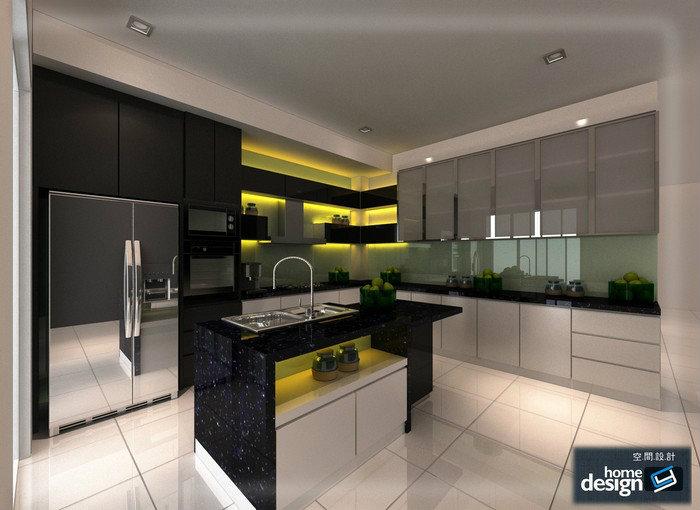 wet kitchen kitchen 3d design dry kitchen skudai jb design cai yi construction m sdn bhd. Black Bedroom Furniture Sets. Home Design Ideas